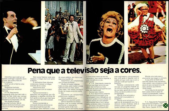 programas de auditório na década de 70