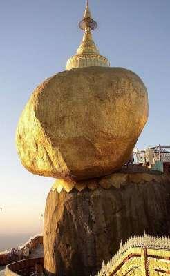 10 Batu Anti-Gravitasi Paling Terkenal di Dunia: Golden Rock - Burma