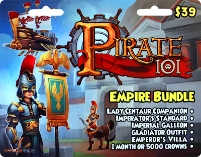 Pirate101 Empire Bundle Card New 2013