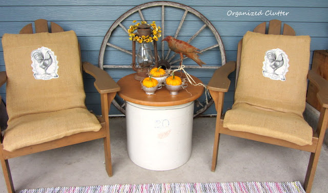 Fall Rustic & Vintage Covered Patio