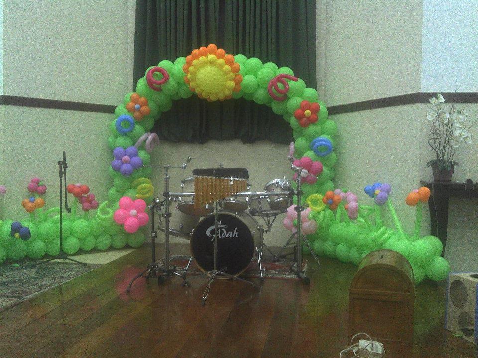 """Paraíso dos Balões""""Decoraç u00e3o E Balões"""" Congresso do Ministério Infantil -> Decoração De Igreja Evangelica Para Congresso Infantil"""