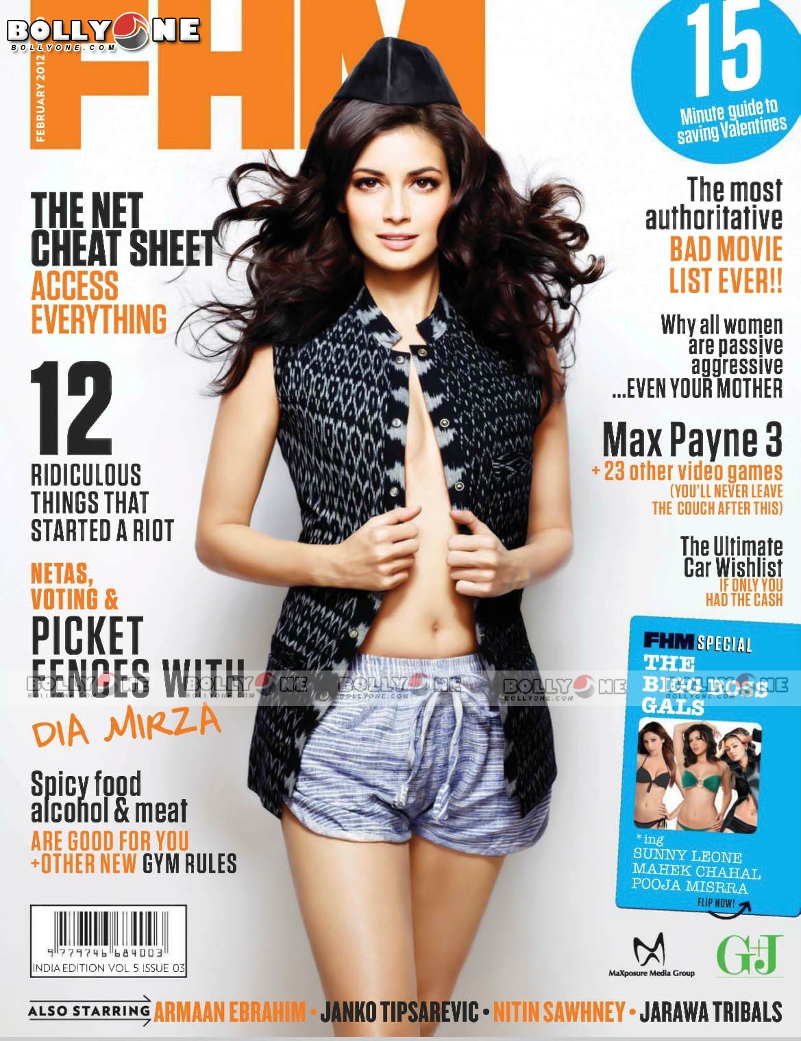 Dia Mirza FHM Scan1 - Dia Mirza FHM February 2012 Magazine HQ Scans