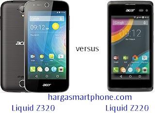Harga dan Perbedaan Acer Liquid Z320 dengan Z220