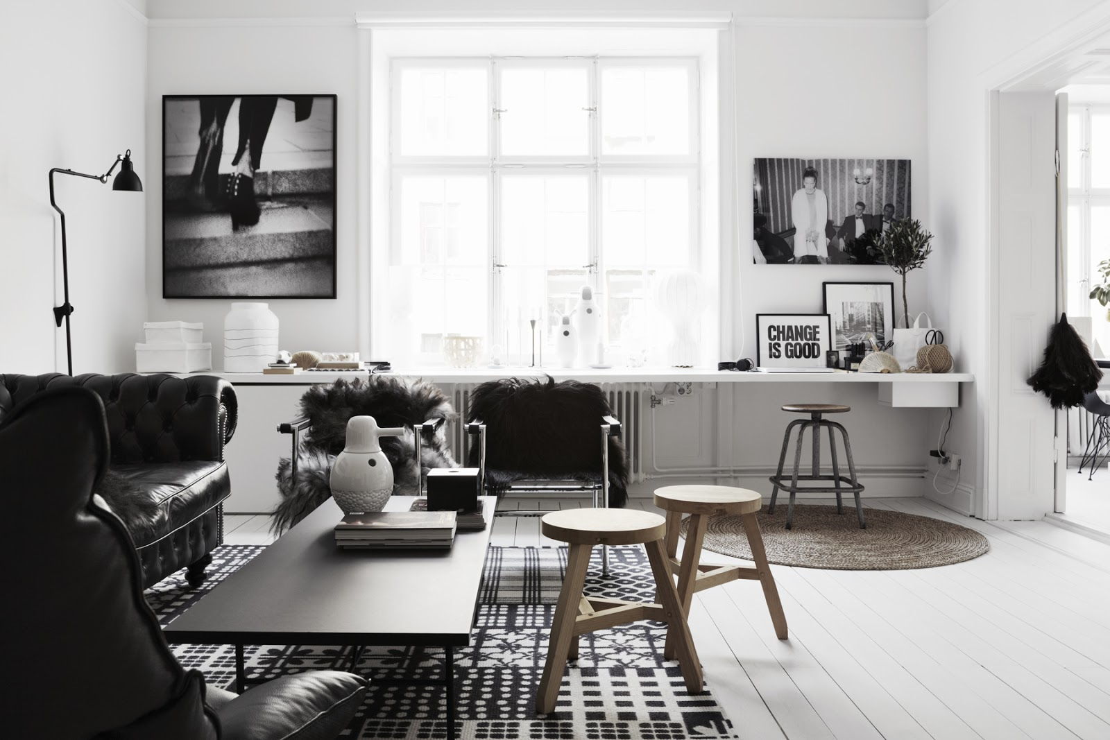 Black White Living Room Alluring Design Inspiration