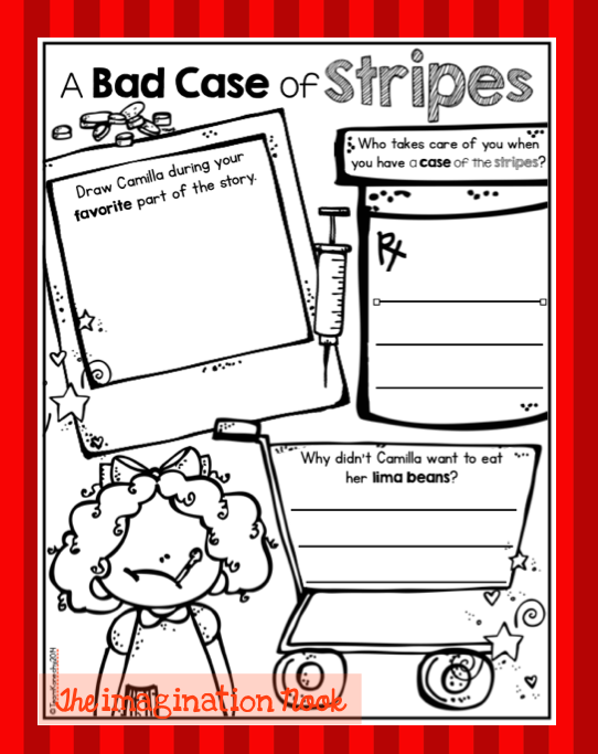 Classroom Freebies Too A Bad Case of Stripes – A Bad Case of Stripes Worksheets