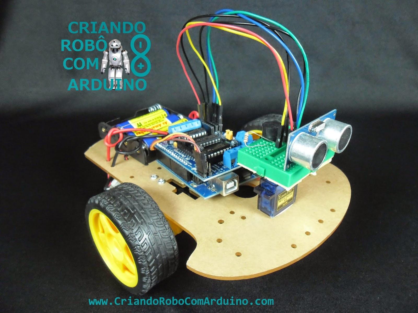 Criando robô com arduíno robôs projetos