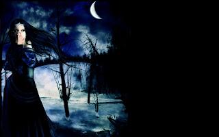 Dark Fantasy black BG wallpaper
