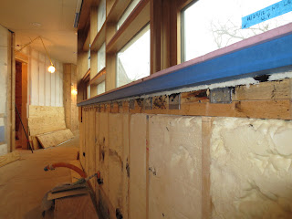 Expanding Closed Cell Foam Around Jambs And Sill