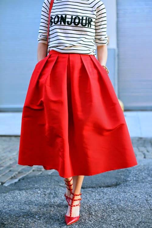 Cách chọn váy cho cô nàng có bắp chân to