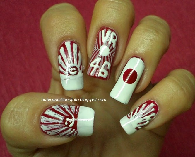 Simple Nails 1244 The Country Of Rising Sun An