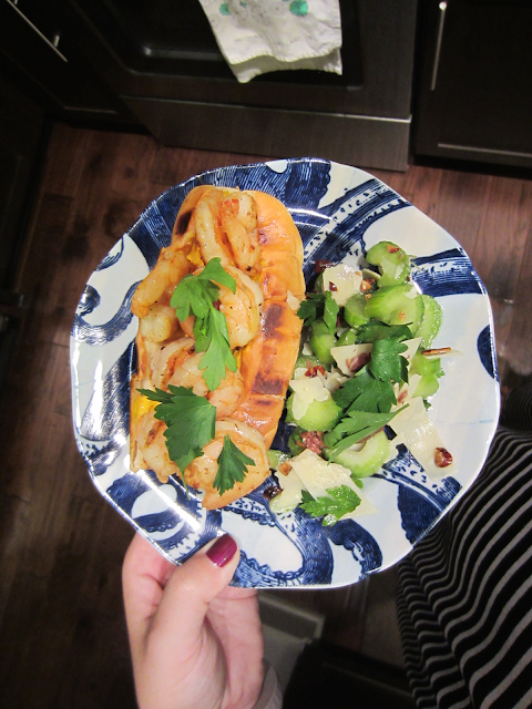 Blue Apron Sautéed Shrimp Sandwiches