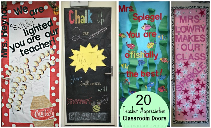 Classroom Decoration Ideas For Teachers Day ~ Four marrs and one venus teacher appreciation ideas
