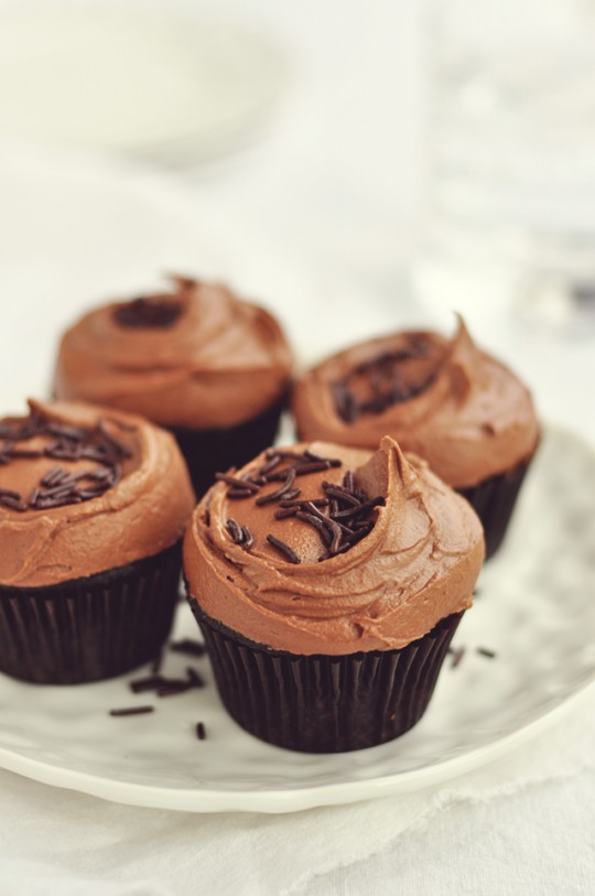 Dark Chocolate Cupcakes with Rich Chocolate Frosting | Fabulous Food ...
