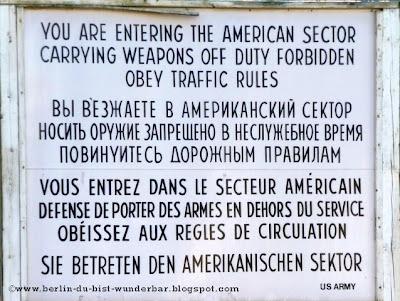 Chekpoint Charlie, tafel, amerikanischen sektor, grenze,