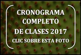 CRONOGRAMA COMPLETO DE CLASES 2017