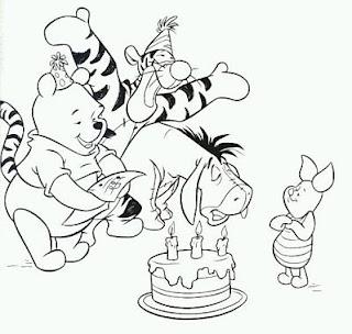 Dibujos de Winnie Pooh para Pintar, parte 2