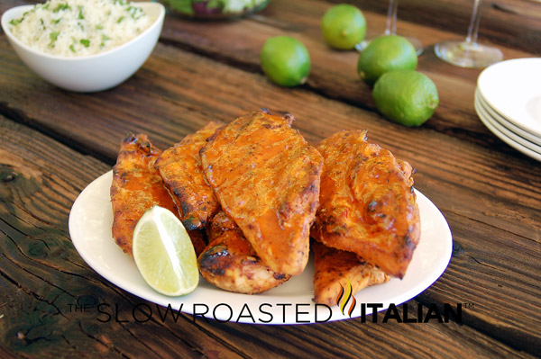Marinade for Grilled Chicken is simple & flavorful. Sweet honey, spicy ...