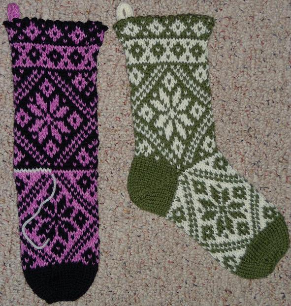 Cable knit christmas stocking pattern nordic christmas stocking