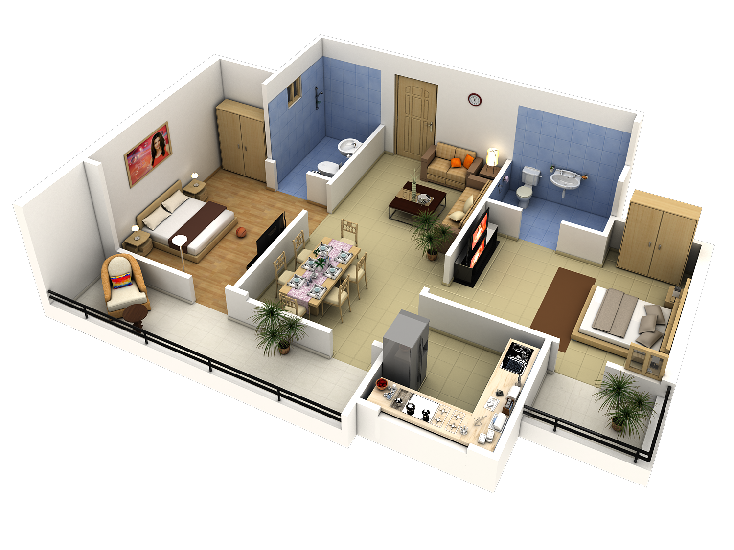 Apartment floor plan cad block apartment design ideas for 2 bedroom layout design