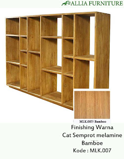 Contoh Furniture Semprot Melamine Bamboe