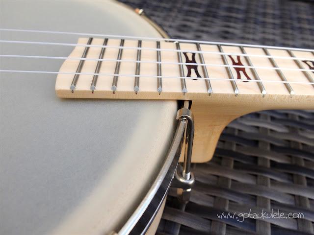 Deering Goodtime Banjo Ukulele extended fingerboard