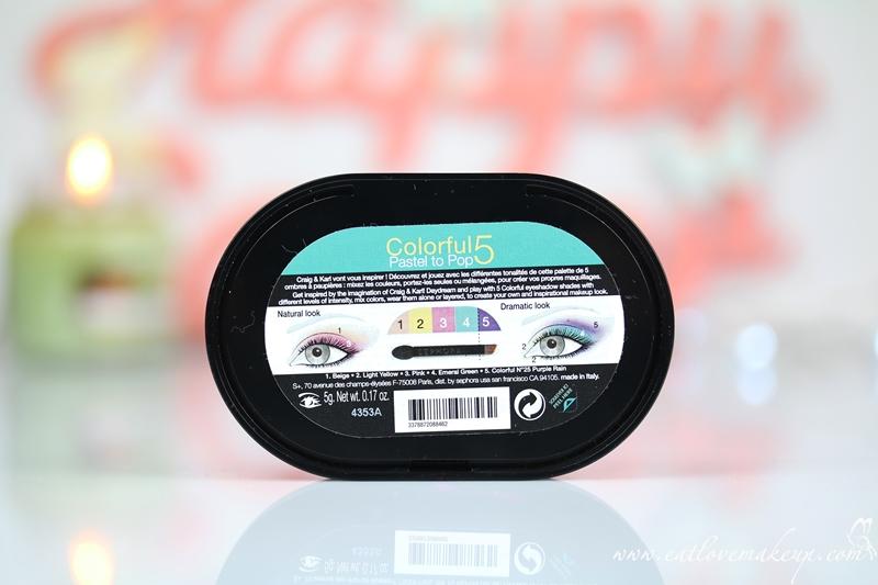 Sephora Craig & Karl Colorful 5 Pastel To Pop Palette