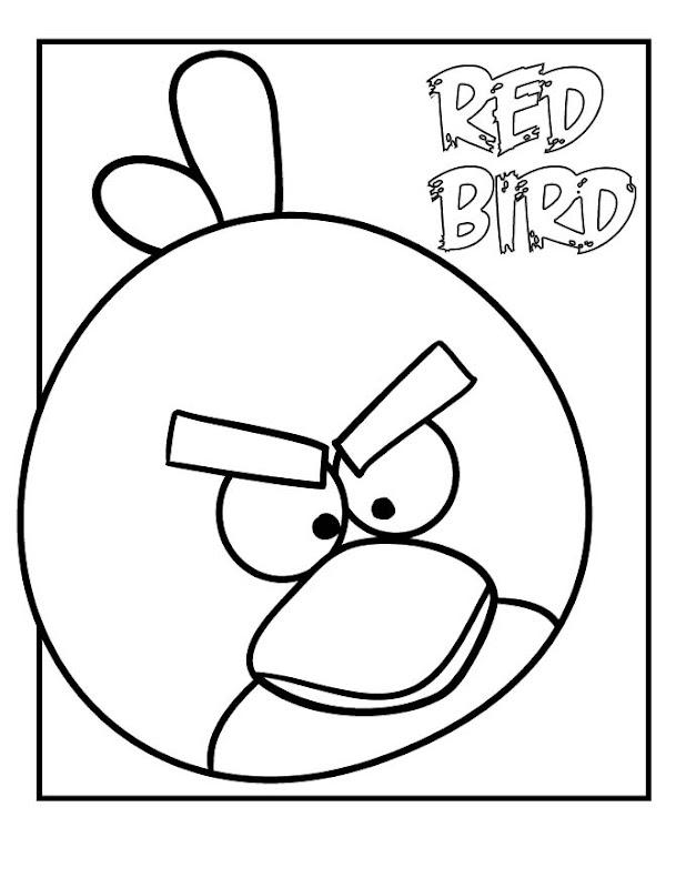 Angry Bird Coloring Pages title=