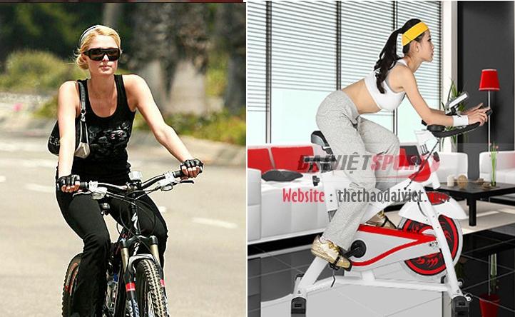 đạp xe bài tập thể dục giảm cân
