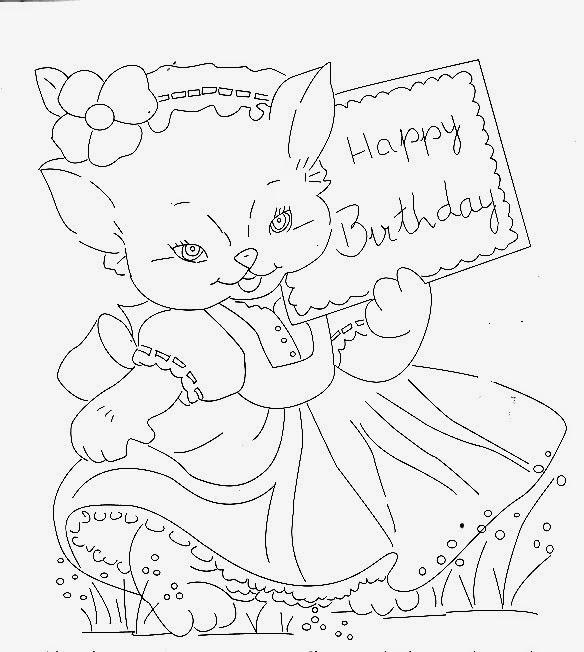 desenho de gatinha para pintar em fralda de menina