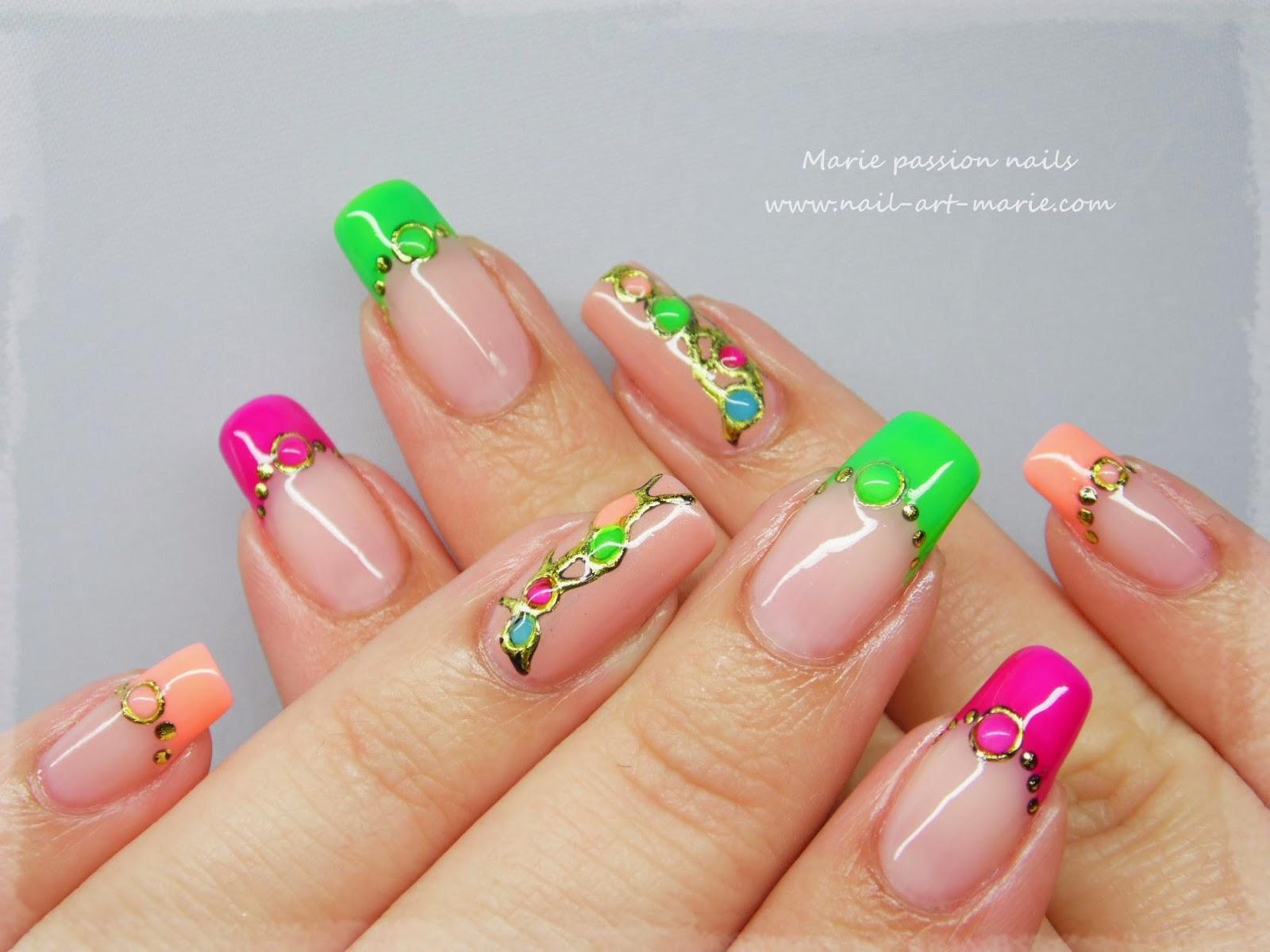 nail art fluo8