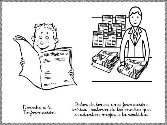 Dibujos para colorear de derechos y obligaciones de los niños - Imagui