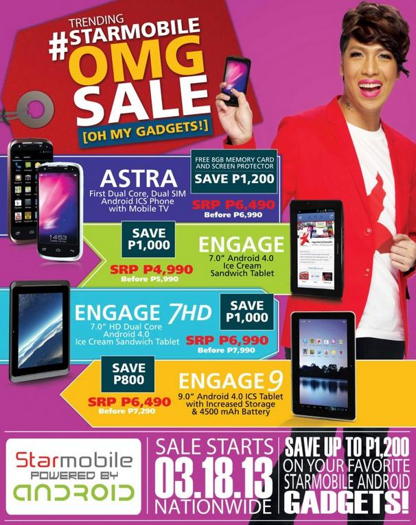 StarMobile Android Gadgets Graduation and Summer Price Drop Promo