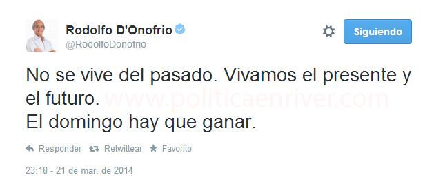 Rodolfo D'Onofrio, D'Onofrio, Tweet, Ramón, Renuncia, Politica en River, River, River Plate,