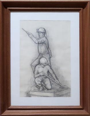 Boceto para una escultura de tema minero de Félix Magdalena