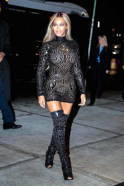 "Beyonce Looking Like A Hooker At The ""Beyonce"" Album Party In New York"