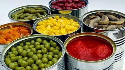 خطر المواد الغذائية المعلبة