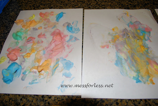 shaving cream paint for kids