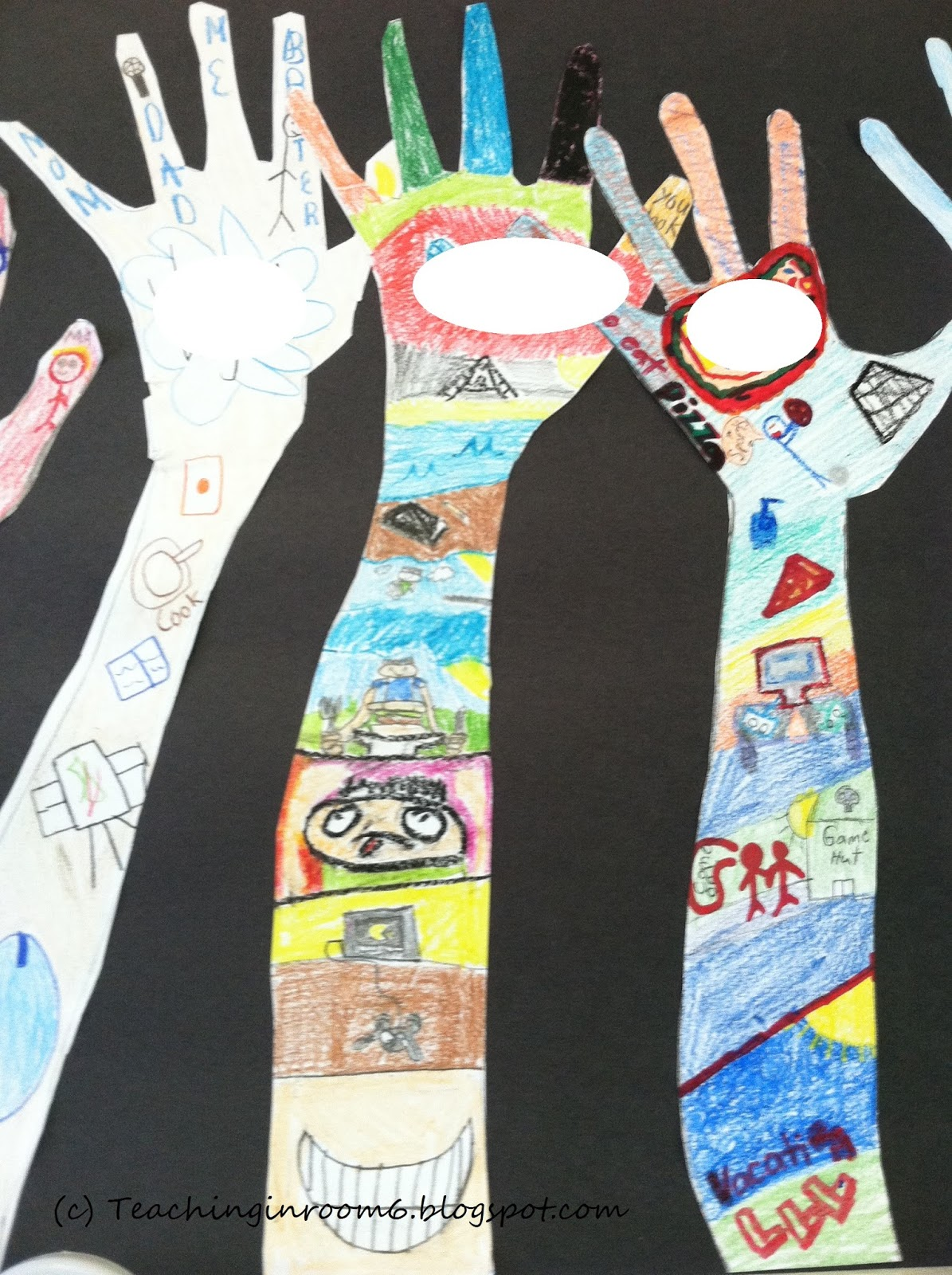 All hands in teaching in room 6 for Arts and crafts for middle school
