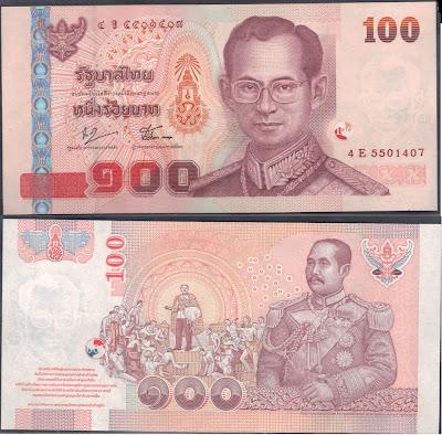 Tailandia 100 baht 2005 P# 114