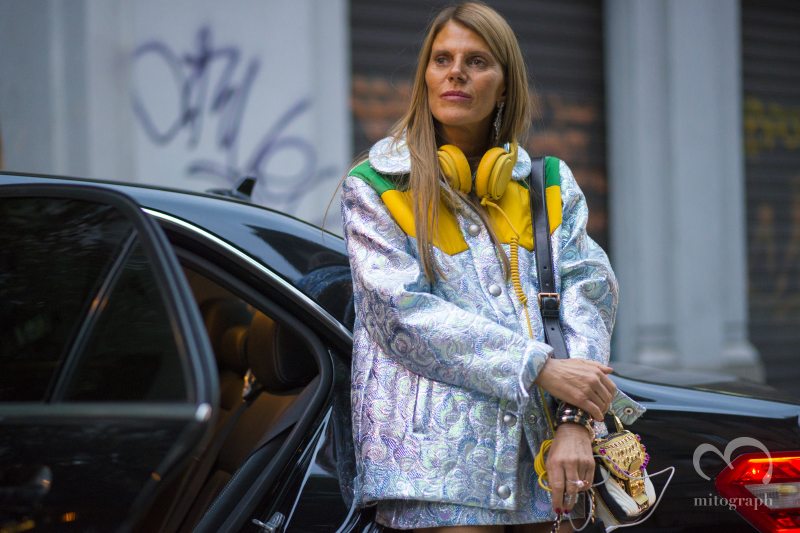 Anna Dello Russo at Milan Fashion Week 2015 Spring Summer MFW