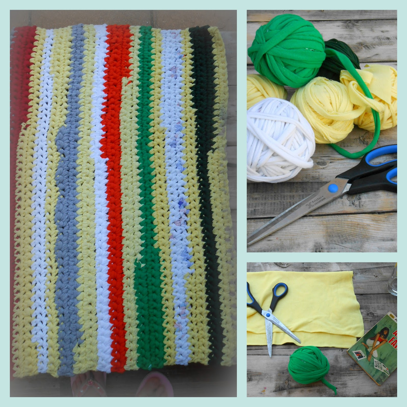 How I Crocheted A Rag Rug From Old T-shts