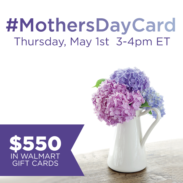 Join Me for the #MothersDayCard Twitter Party on May 1st 3-4 pm EST