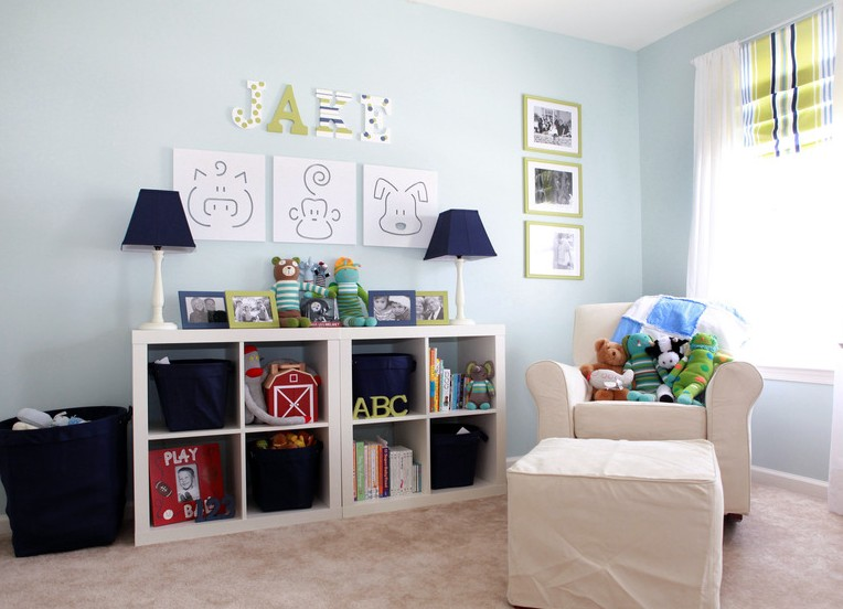 I d e a decorar con expedit for Habitacion bebe ikea