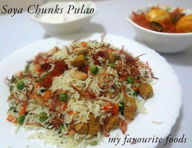 Soya Chunks Pulao