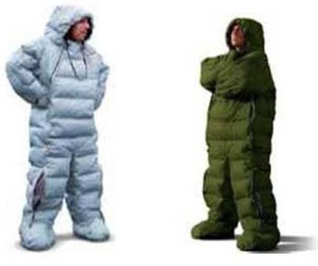 sleeping bag suit for winter camping go camping. Black Bedroom Furniture Sets. Home Design Ideas