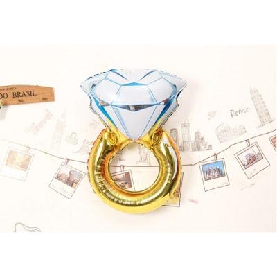 Balon Foil Diamond Ring