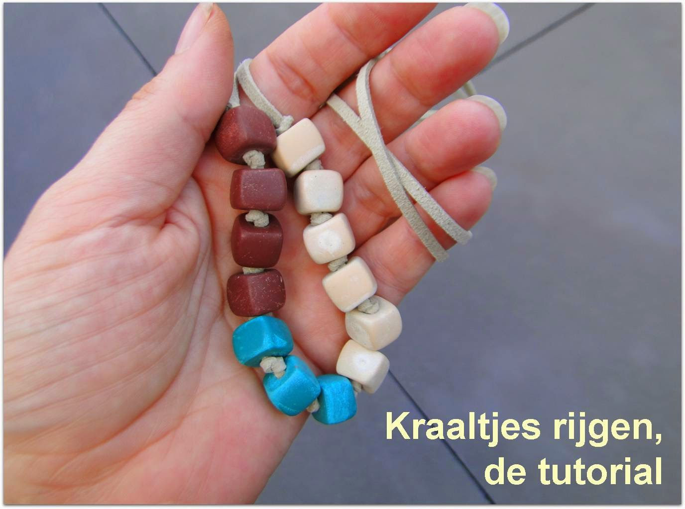 how to polymer clay bead necklace tutorial