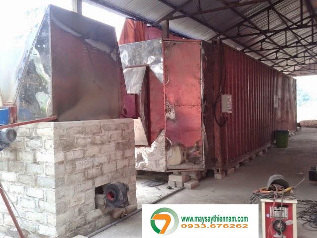 Buồng sấy lõi ngô tại Ninh Bình