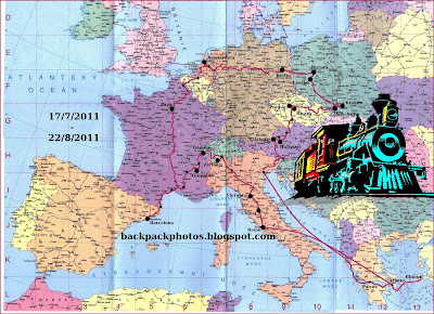 europe political map railway interrail route
