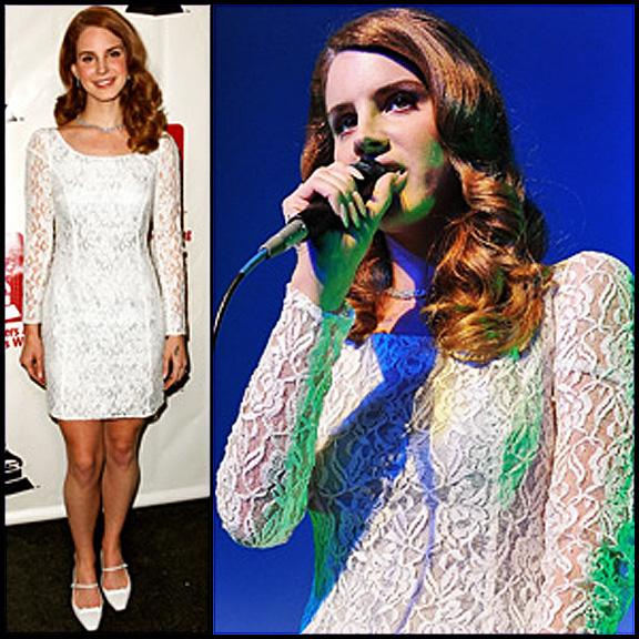 lana del rey white lace dress - photo #21